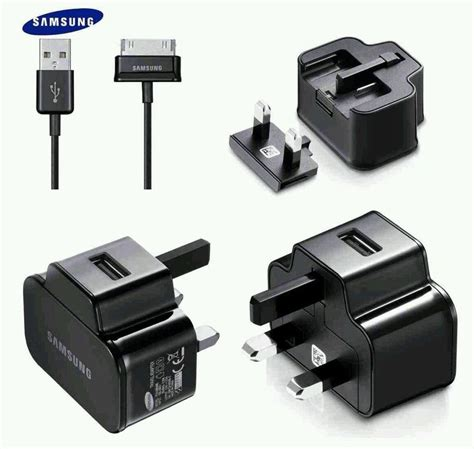 Samsung Charger Official Samsung Galaxy Wall Charger 2 For Tab Tablet Note Usb Data Cable Ebay