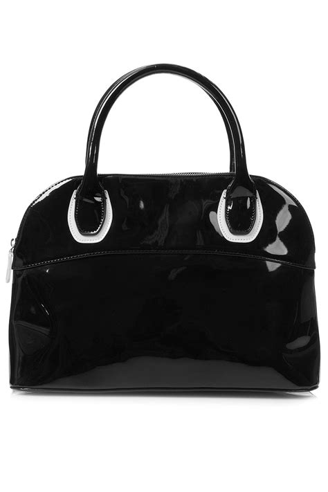 Patent 70s Luggage At Topshop by Topshop Patent Kettle Bag In Black Lyst