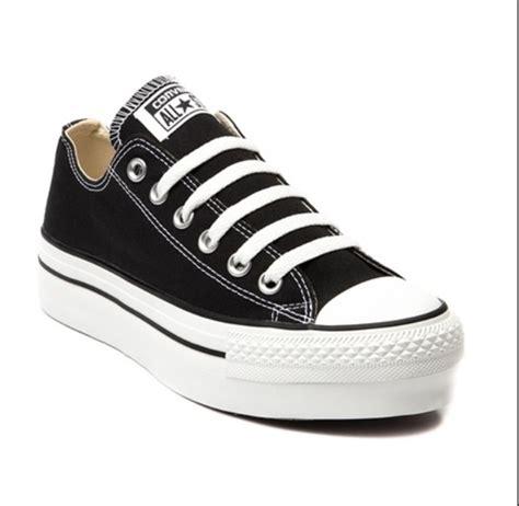 new converse chuck all black white low