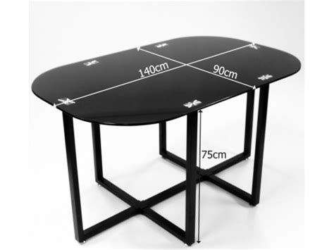 glass dining table with 6 black chairs home space saver