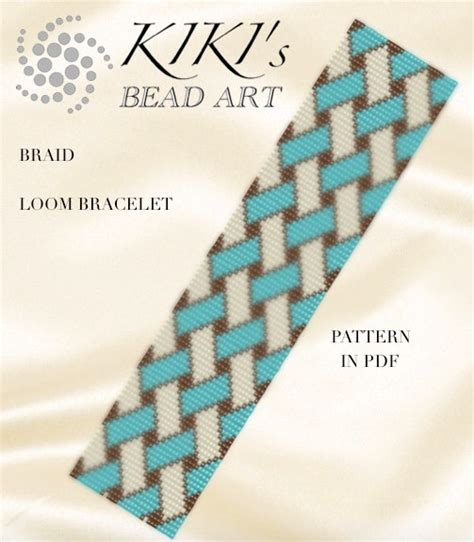 beading patterns pdf bead loom pattern braid geometric loom bracelet pattern in