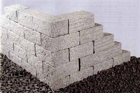 natursteinmauer gartenmauer naturstein wand granitsteine