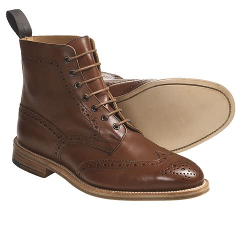 wing tip boots tricker s langston wingtip boots leather for in