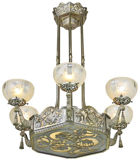 art nouveau light fixtures vintage hardware lighting
