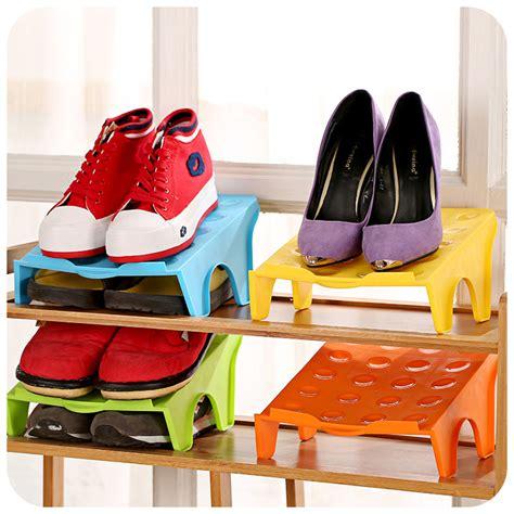 living room shoe storage 5pcs shoe rack double three dimensional storage creative
