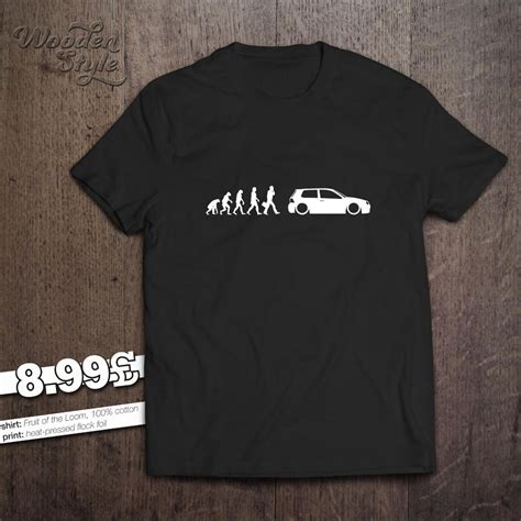 Tshirt Vw Black 2 evolution of vw golf mk 4 t shirt 1 4 1 6 1 8 t 1 9