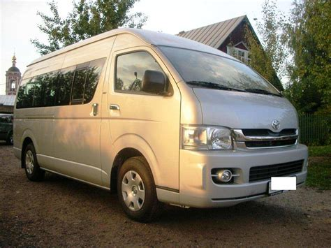 2008 Toyota Hiace For Sale 2008 Toyota Hiace Pictures 2 7l Gasoline Fr Or Rr