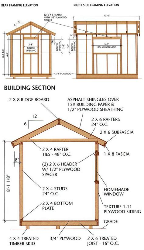 build   shed plans ideas  plan included