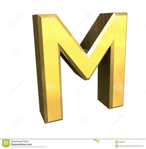 letra m m letra m oro 3d imagen de archivo libre de regal 237 as imagen 3848616