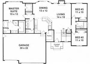 House Plans Daylight Basement Traditional Style House Plans 1527 Square Foot Home 1