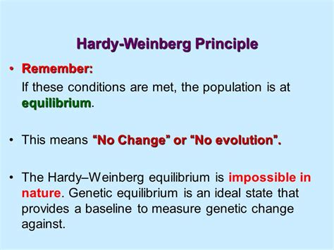 hardy weinberg principle evolution and darwin ppt download