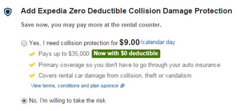 Detox Coverage No Deductible by Expedia S Collision Coverage Cheap Primary No