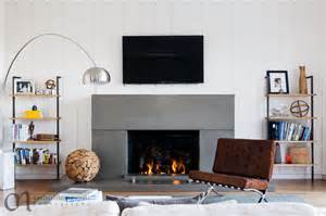 Barely there modern glass fireplace screen modern living room