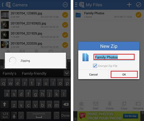 android zip file how to create a zip file on android