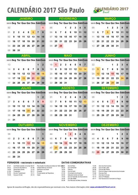 calend 193 2017 para imprimir feriados