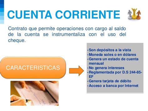 la cuenta corriente cuenta de ahorros diapositivas operaciones bancarias 1