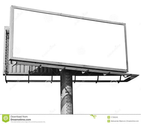 empty billboard isolated stock photos image 17783243