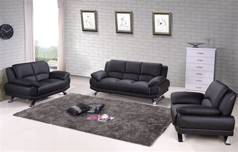 tufted leather sofa set black genuine leather sofa set with tufted pillows atlanta