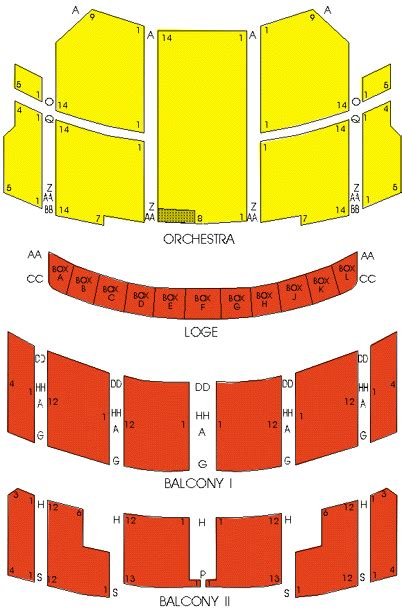 taft theater seating map taft theatre seating chart