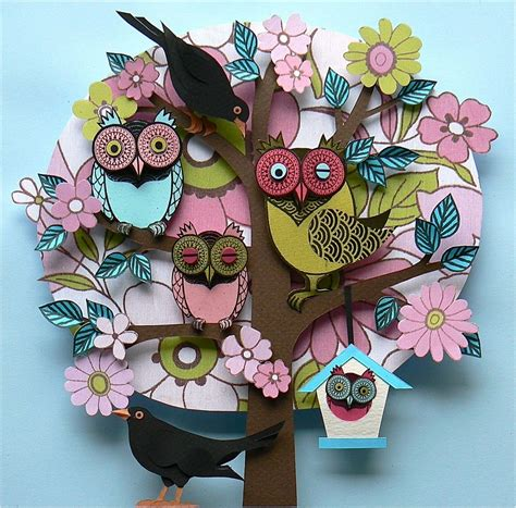 How To Make Paper Artwork - helen musselwhite paper lushlee