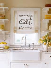 ideas for kitchen window treatments creative kitchen window treatment ideas hative