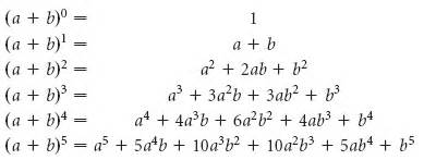 the binomial theorem binomial expansions using pascal s