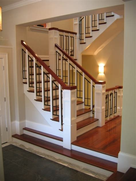 awesome craftsman style staircase
