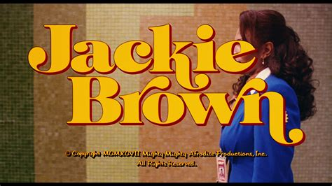 quentin tarantino film titles foxy brown and jackie brown fonts in use