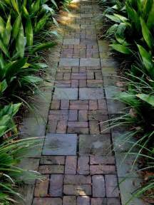 beautiful walkway brick pattern crooked wood pinterest