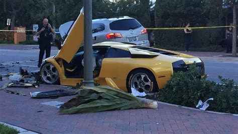 fatal lamborghini crash deadly crash involving lamborghini investigated in delray