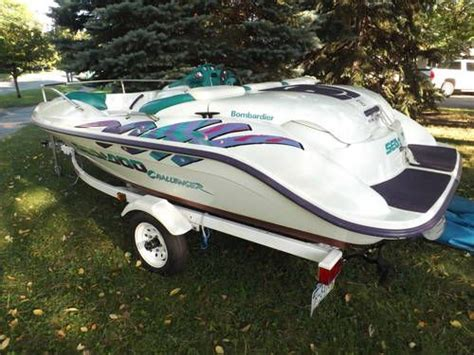 seadoo boat vin number 1996 sea doo challenger jet boat with trailer for sale