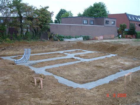 fundering gieten tuinhuis funderingen gieten ruwbouwwerken onder de grond