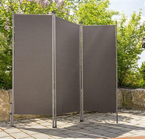 Garten Paravent Metall by Paravent Outdoor Metall Stoff Anthrazit Sichtschutz Windschutz Sonnenschutz