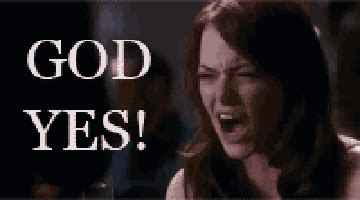 emma stone wolf of wall street god yes gifs find share on giphy
