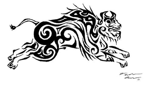 tribal buffalo tattoos tribal buffalo design by chibiryu92 on deviantart