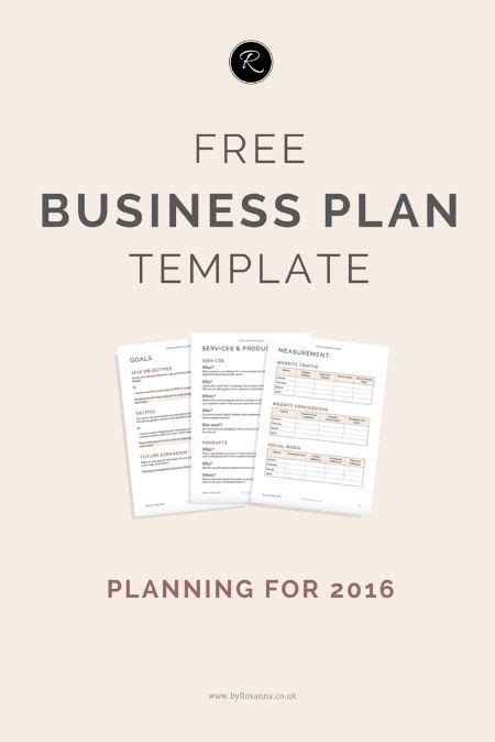 Prepare For 2016 With This Free Business Plan Template This Is Perfect For Small Business Small Business Plan Template Free