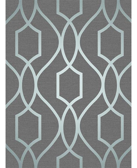 wallpaper blue trellis apex geometric trellis wallpaper slate grey and blue fine