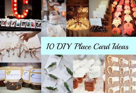 place card ideas 10 diy place card ideas rustic wedding chic