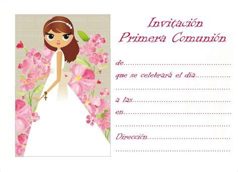 tarjetas de comunion personalizadas para imprimir gratis invitaci 243 nes primera comuni 243 n para imprimir gratis imagui