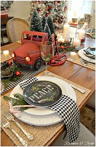 country christmas table setting ideas