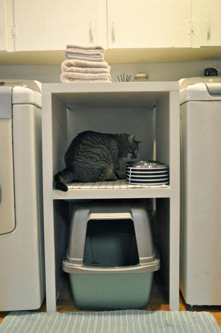 A Tiny Apartment A Sticky Litter Box by Small Laundry Room With Litter Box Not Great I Would