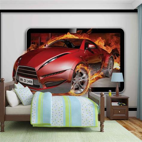car wall murals car flames wall paper mural buy at europosters