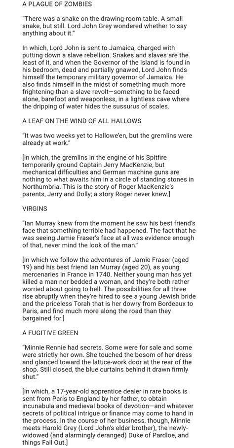 Outlander Homepage: From Diana Gabaldon Seven Stones to