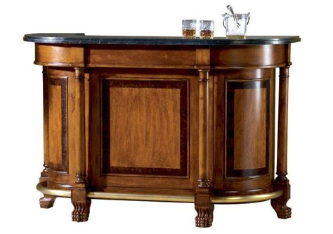Bar With Granite Top Classic Wood Home Bar Furniture 7080 Office Bar Furniture