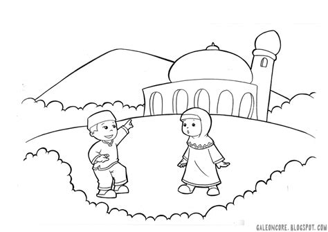 Free Coloring Pages Of Muslim Cartoon Muslim Coloring Pages