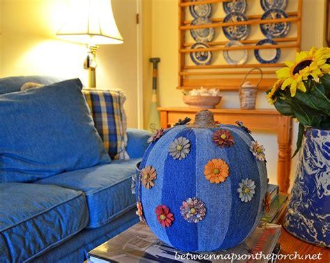decorating with denim denim pumpkin 5 creative ways to decorate a pumpkin