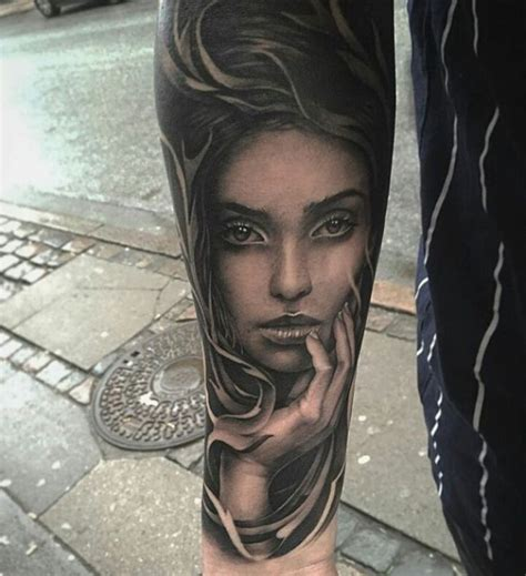 lady face tattoo designs best 25 ideas on on