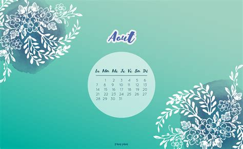 Calendrier Aout 2017 Calendriers Mensuels Ao 251 T 2017 Gratuit 224 Imprimer