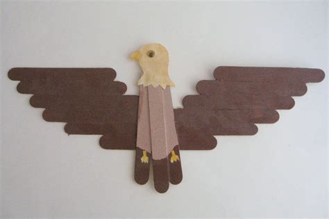 How To Make A Eagle Out Of Paper - derosier my creative popsicle stick bald