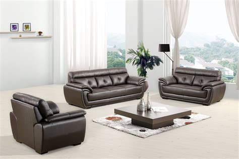 modern sofa set for sale divani casa 3011 modern espresso bonded leather sofa set